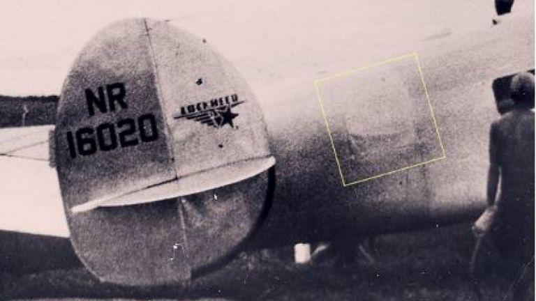Une image montrant le patch sur l'Electra. Pic: TIGHAR