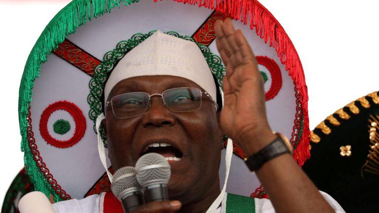 Le principal parti d'opposition d'igeria, le candidat à la présidentielle Atiku Abubakar