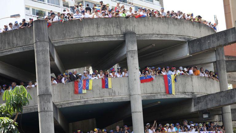 Les manifestants ont envahi les rues de Caracas