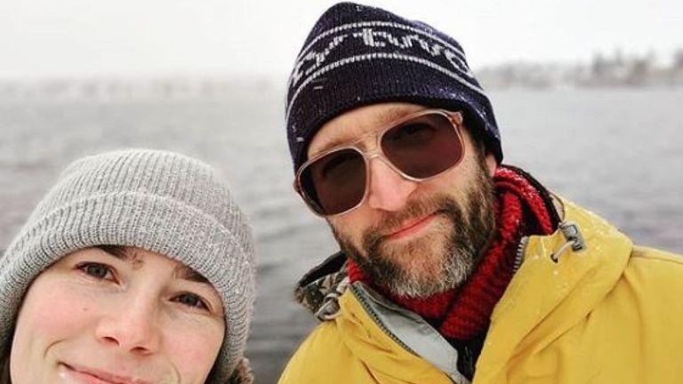 Amanda Knox avec son fiancé Christopher Robinson