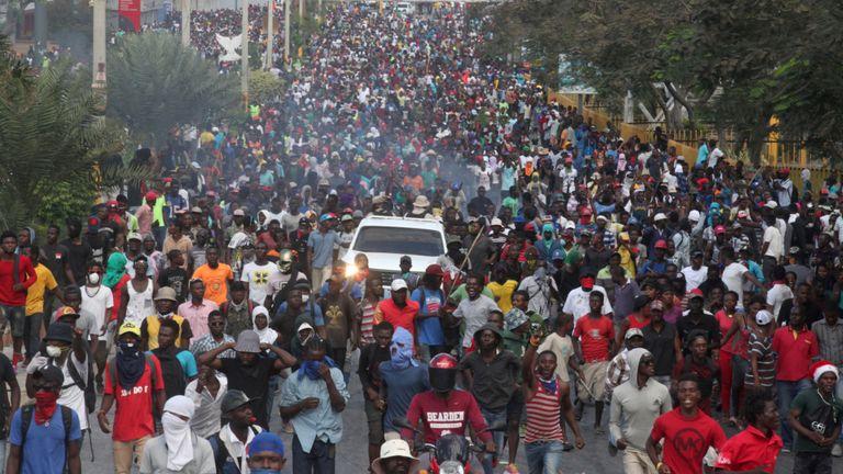 Des centaines de milliers de personnes ont été dans les rues de Port-au-Prince