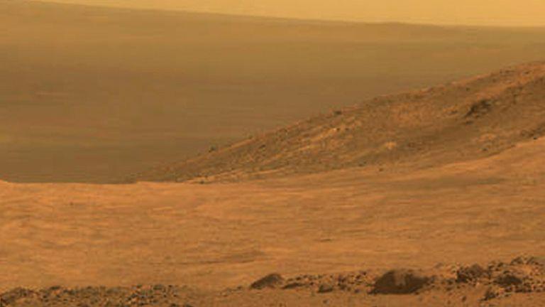 Le paysage martien précédemment capturé par Opportunity