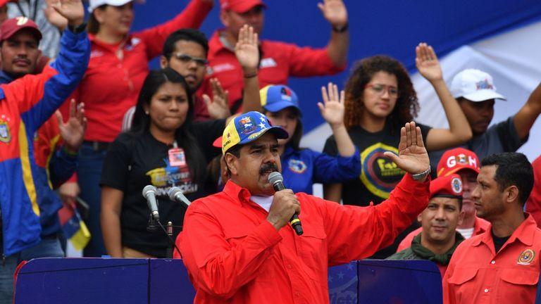 Nicolas Maduro a parlé à ses partisans lors d'un rassemblement samedi