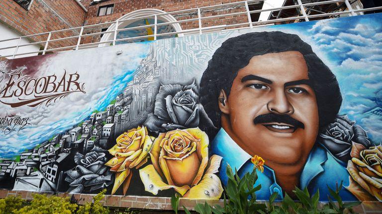 Un graffiti à Medellin, en Colombie, montre Pablo Escobar