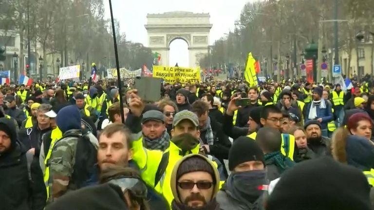 Les manifestations ont continué à Paris ce week-end