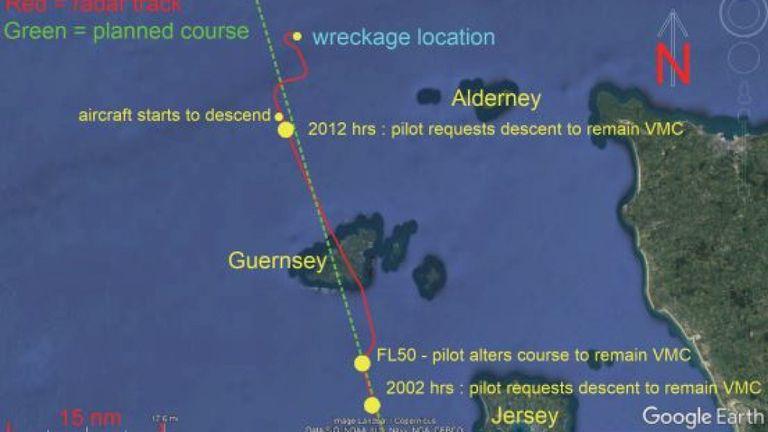 Piste d'avion dans les environs de Guernesey