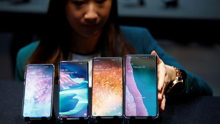 Les smartphones S10e, S10, S10 + et S10 5G Samsung Galaxy