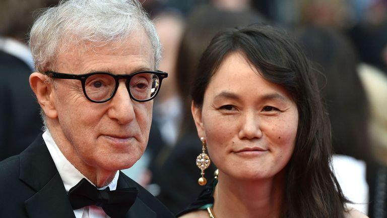 Soon-Yi Previn et Woody Allen au Festival de Cannes en 2016