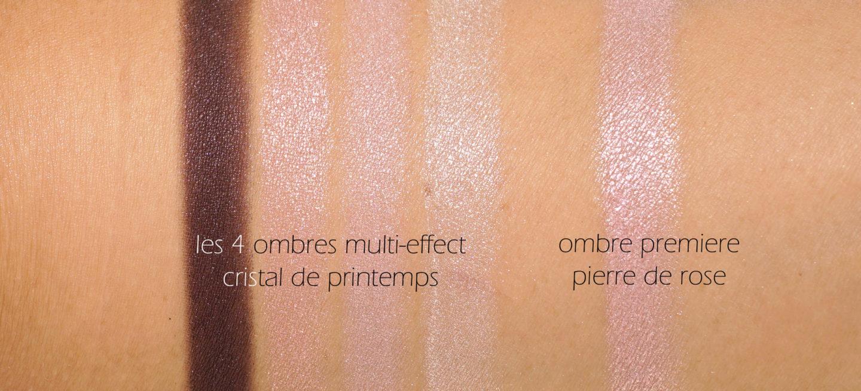 Échantillons Chanel Les 4 Ombres Cristal Printemps et Pierre de Rose