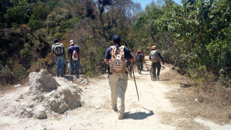 Les autorités ont retrouvé le corps lundi. Pic: PNC Guatemala