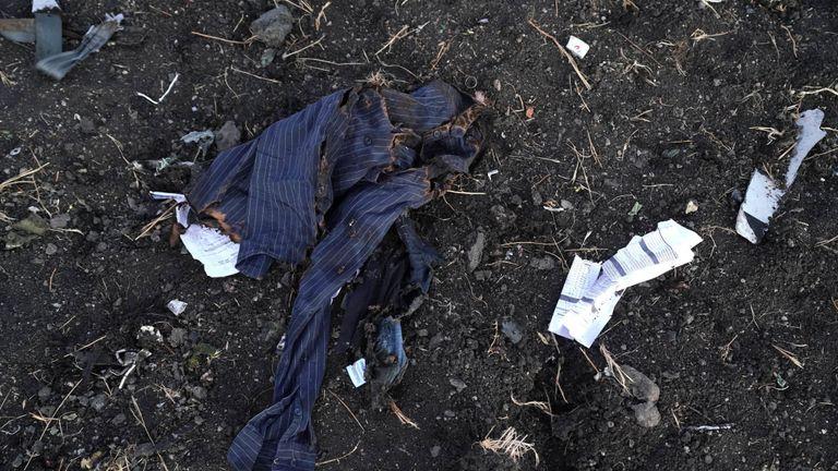 Une chemise appartenant à l'une des victimes de l'accident