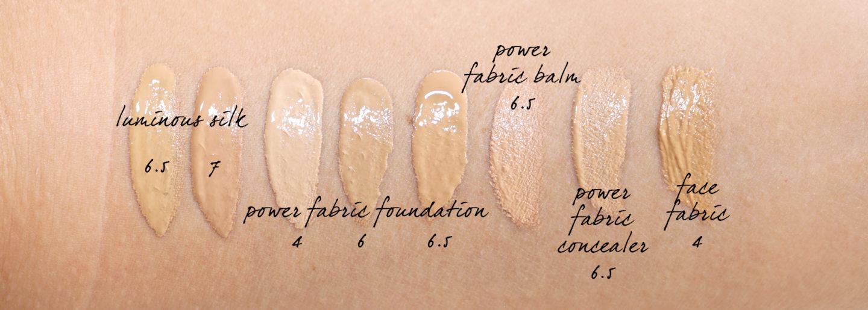 Armani Luminous Silk, Power Fabric Foundation échantillons 6 et 6.5 et 7