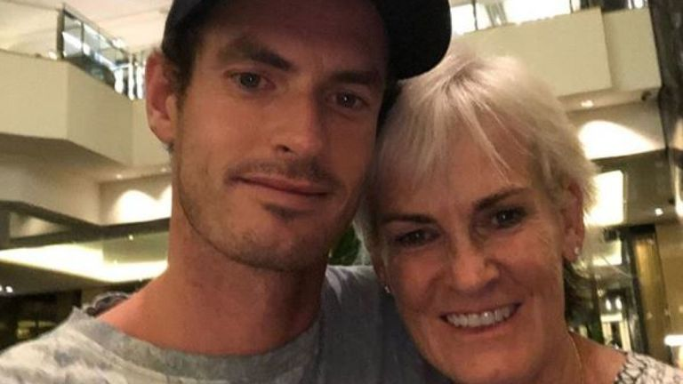 Andy Murray a partagé une photo avec sa mère, Judy. Pic: Andy Murray