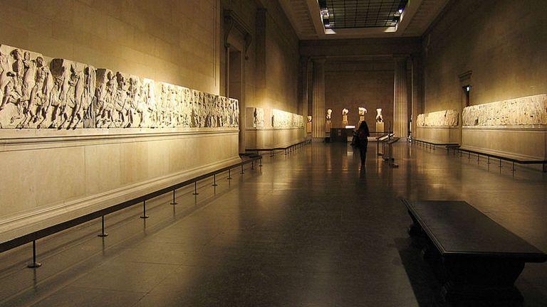 Les marbres d'Elgin hébergés au British Museum. Pic: Andrew Dunn