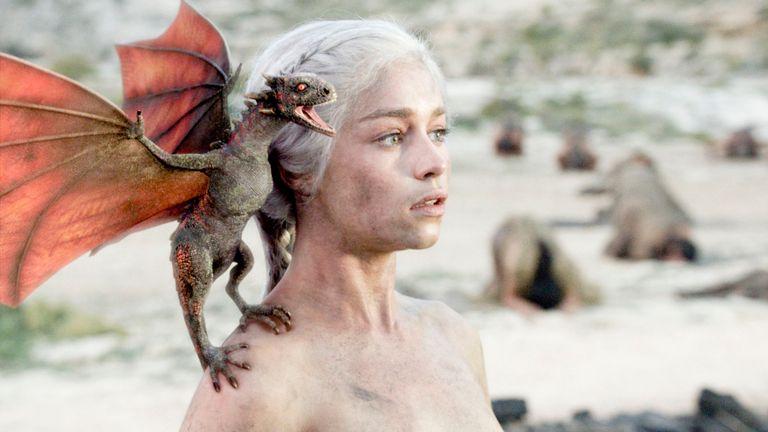 Game Of Thrones, série 1. Episode 10, Le feu et le sang..Emilia Clarke comme Daenerys .... Photo: HBO / Sky Atlantic