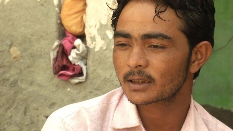 Victime des violences communautaires en Inde Irshad Khan