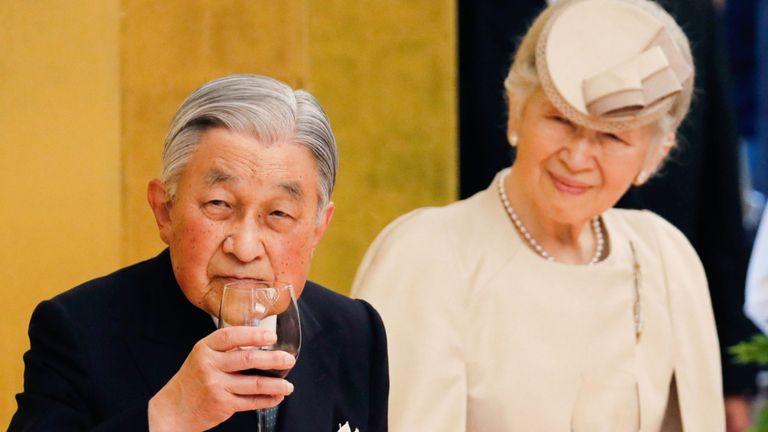 L'empereur japonais Akihito et l'impératrice Michiko