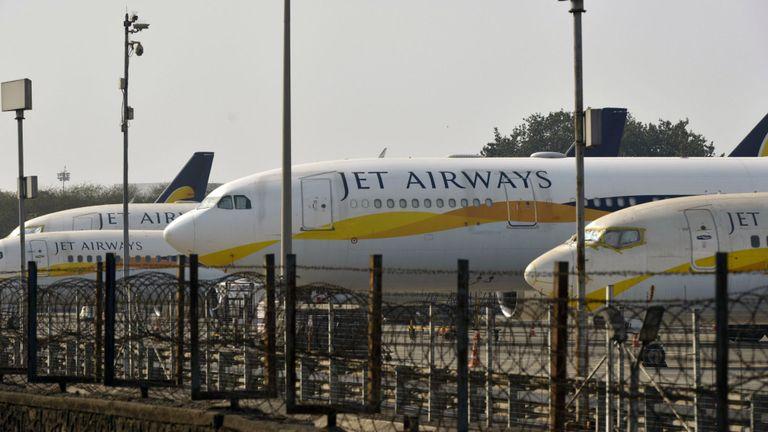 L'avion Jet Airways de l'Inde