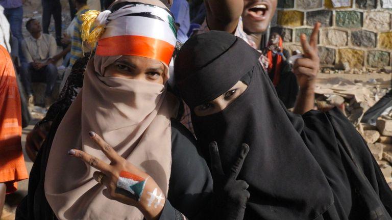 Manifestants à Khartoum