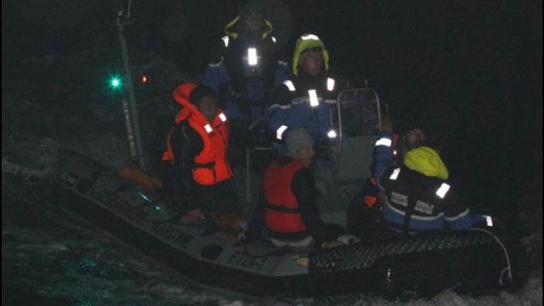 Les autorités françaises les ont interceptés. Pic: Préfet Maritime Manche