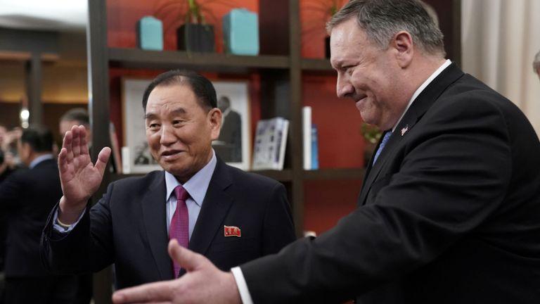 Le secrétaire d'Etat américain Mike Pompeo a rencontré Kim Yong Chol à Washington vendredi