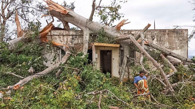 De nombreuses maisons ont été détruites ou gravement endommagées