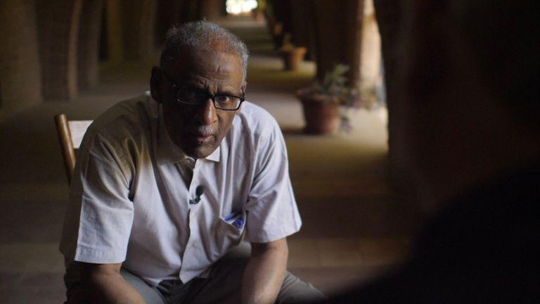 Le professeur Muhammad Yousif à l'Université de Khartoum