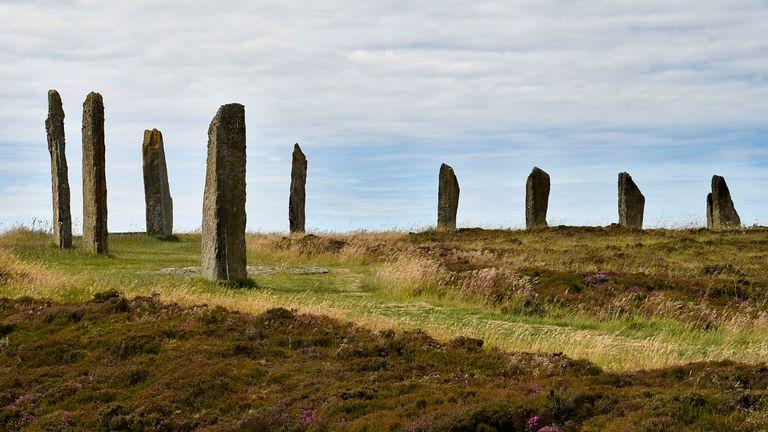 L'un des anciens cercles de pierre d'Orkney