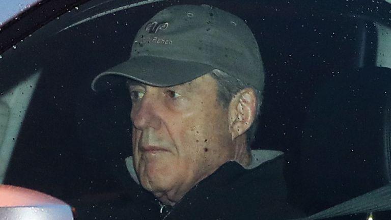 L'avocat spécial Robert Mueller arrive à son bureau à Washington DC