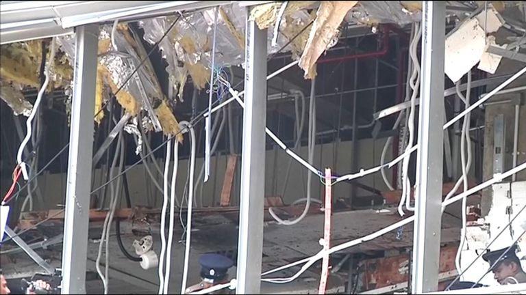 Dommages à l'hôtel Shangri-La à Colombo
