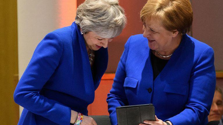 Theresa May et Angela Merkel