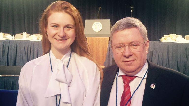 Maria Butina avec l'envoyé Alexander Torshin