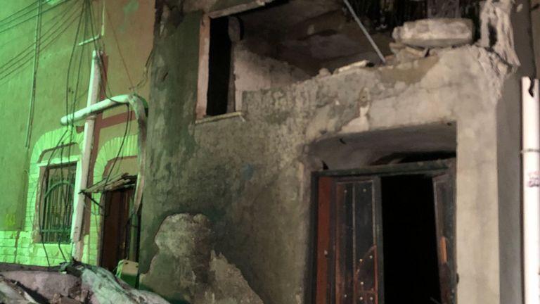 Dommages causés par une attaque à la roquette à Abu Salim, Tripoli.