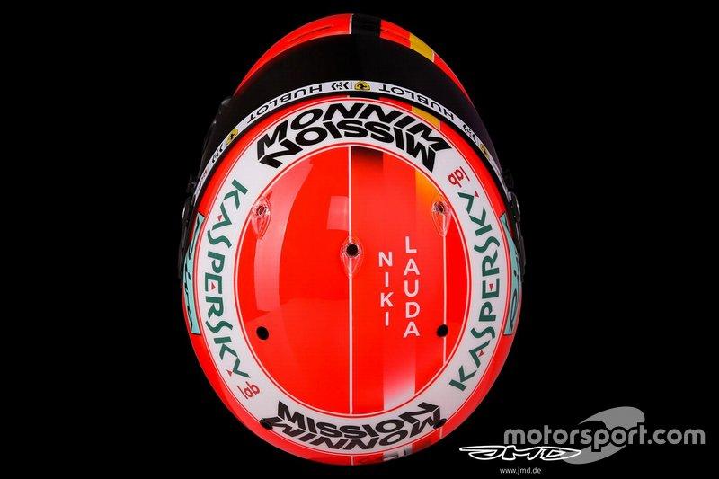 Casque de Sebastian Vettel, Ferrari