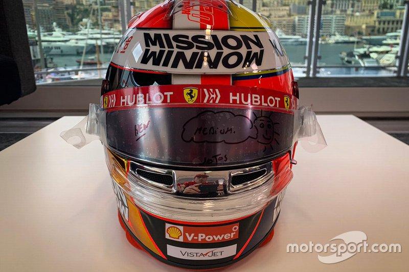 Casque de Charles Leclerc, Ferrari