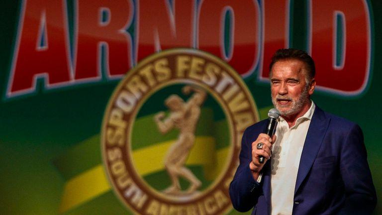 Arnold Schwarzenegger était à un événement à Johannesburg