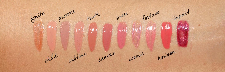 Échantillons de gloss à lèvres volumisantes Unreal de Hourglass   Le look book beauté