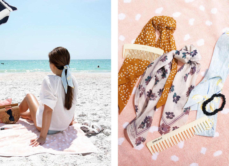 Foulard à cheveux Accessoires de plage | Le look book beauté