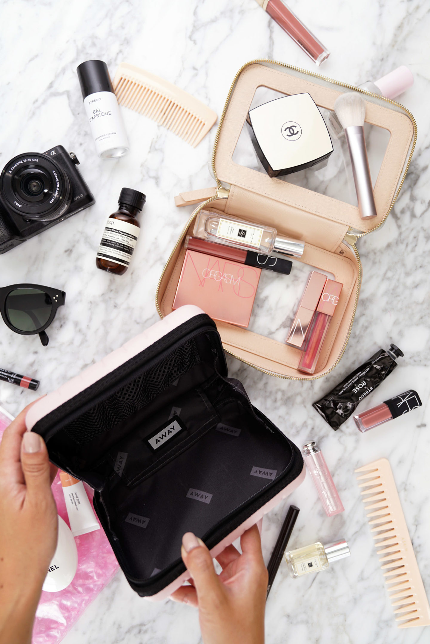 Travel Beauty Cases Away Mini vs Truffle Clarity Jetset