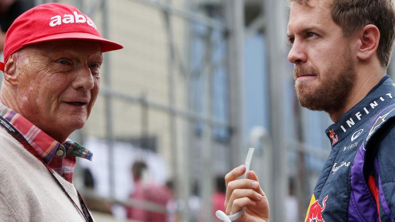 Niki Lauda et Sebastian Vettel