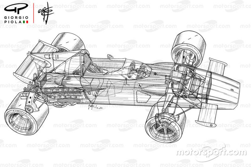 Vue densemble détaillée de la Ferrari 312B