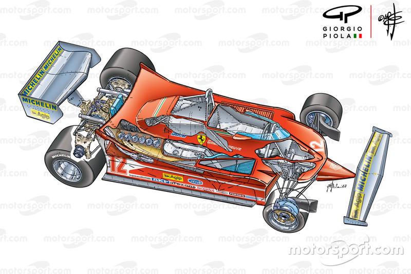 Ferrari 312T4 vue 3/4