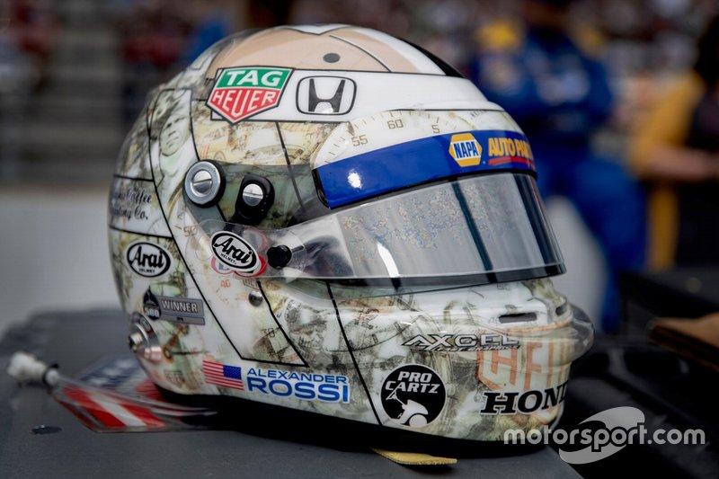 Casque dAlexander Rossi, Andretti Autosport Honda