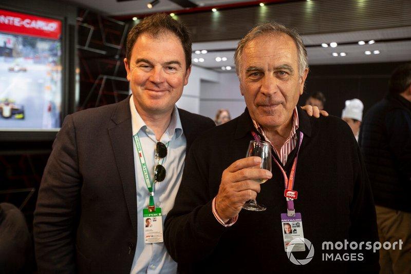 James Allen, président du réseau de sport automobile et Giorgio Piola, artiste technique