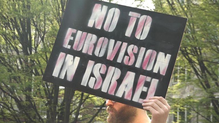 Une manifestation anti-Eurovision à Londres