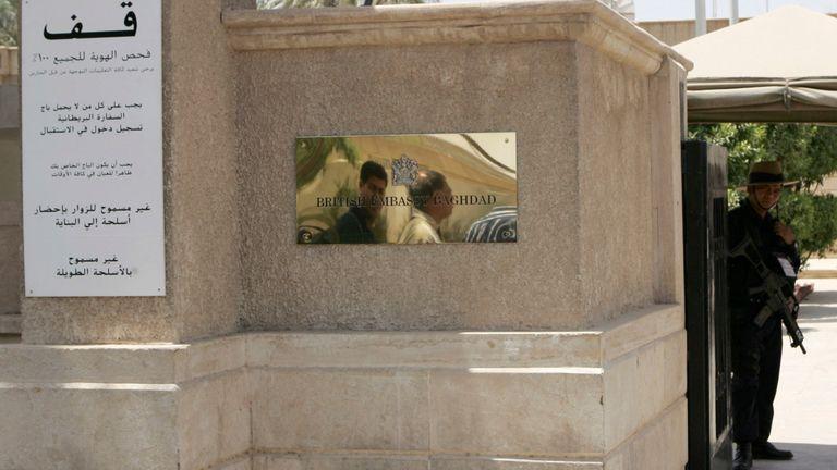 L'ambassade britannique à Bagdad