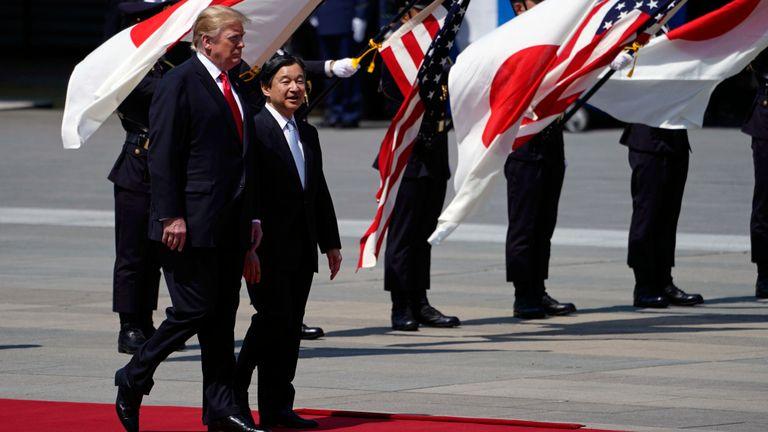 Donald Trump et l'empereur du Japon, Naruhito