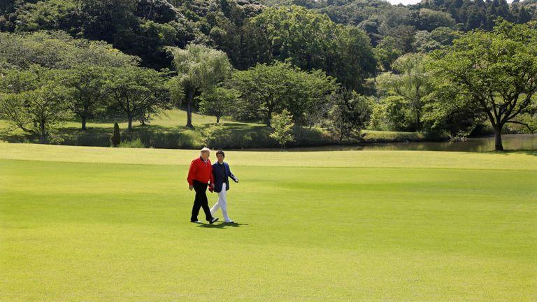 M. Trump et M. Abe ont joué au golf ensemble cinq fois