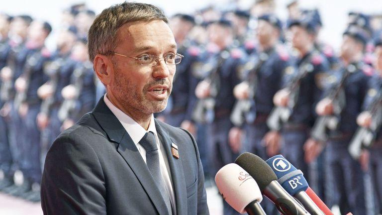 Le chancelier autrichien Sebastian Kurz cherche à démettre de ses fonctions le ministre de l'Intérieur Herbert Kickl