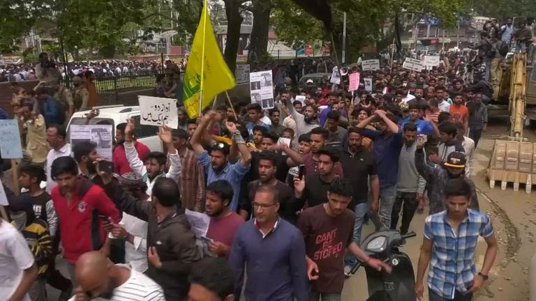 Manifestations au Cachemire
